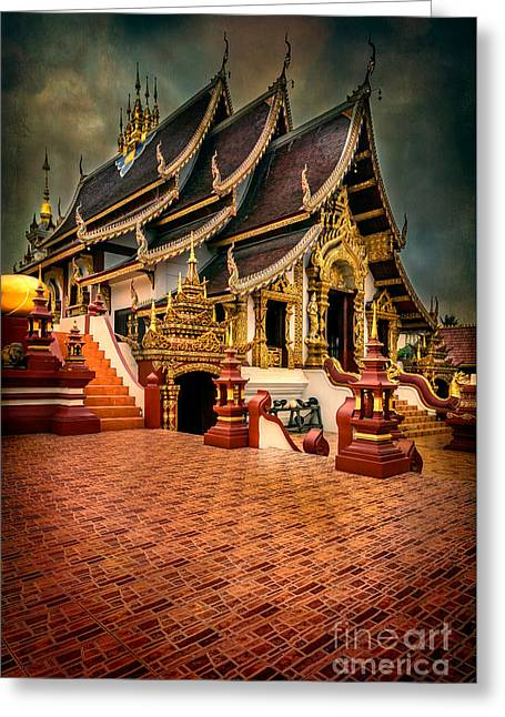 Monthian Temple Chiang Mai  Greeting Card