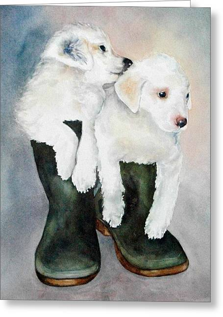 Monti And Gemma Greeting Card