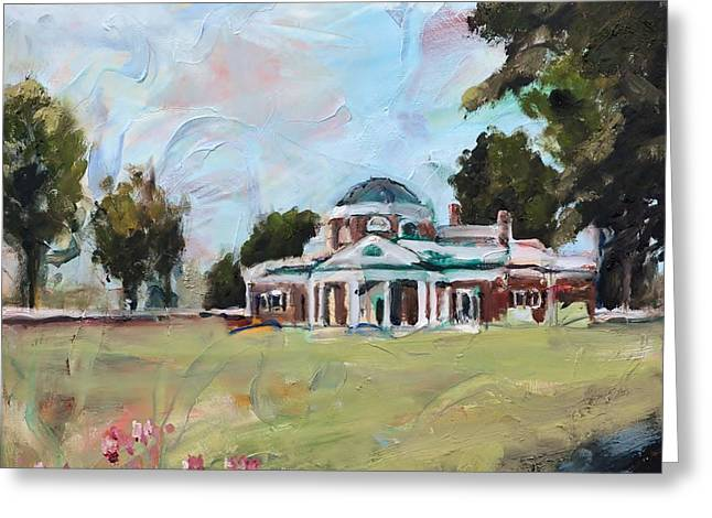 Monticello Charlottesville Virginia Greeting Card