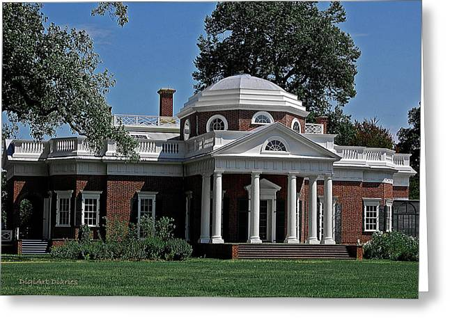 Monticello Greeting Card by DigiArt Diaries by Vicky B Fuller
