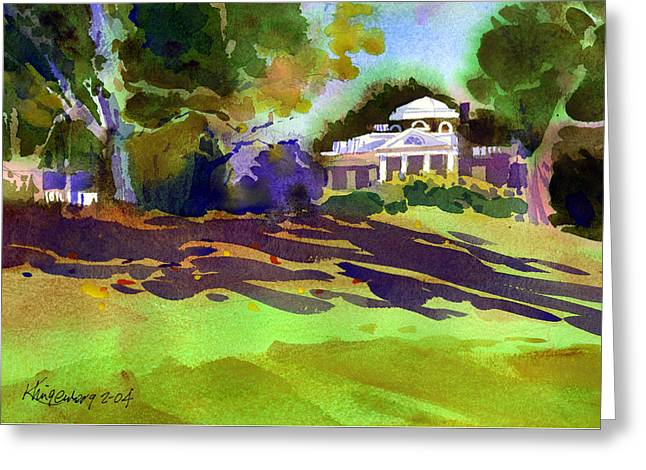 Monticello In October Greeting Card by Lee Klingenberg