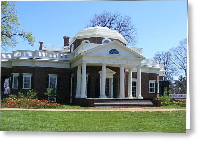 Monticello Greeting Card by James and Vickie Rankin