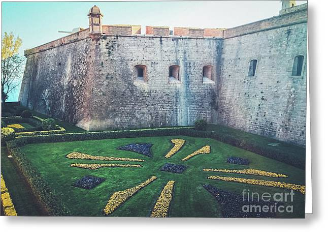 Montjuic Castle Gardens Greeting Card