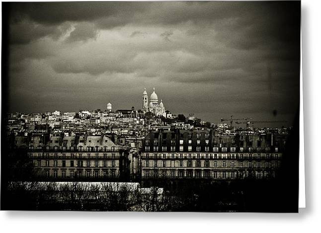 Montmartre Black And White Greeting Card