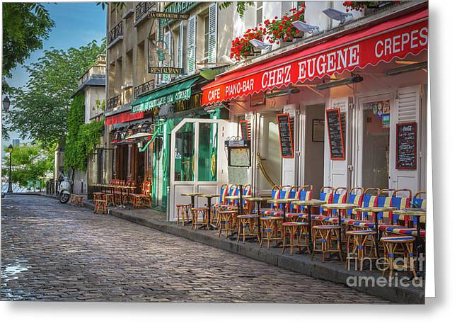 Montmartre Cafe Greeting Card