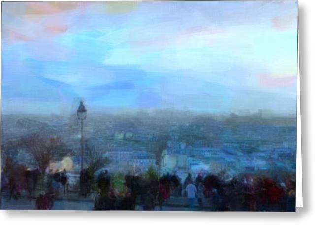 Montmartre From The Butte Greeting Card