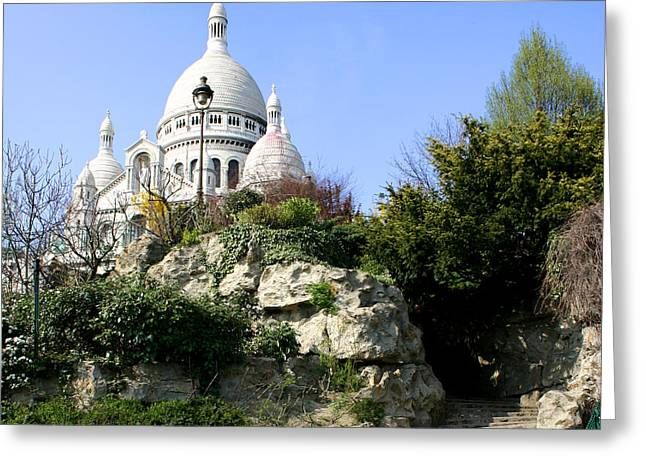Montmartre Greeting Card by Hans Jankowski