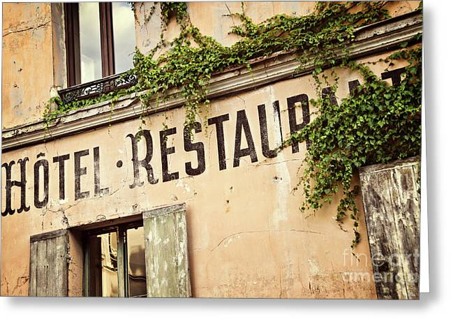 Montmartre Hotel Restaurant  Greeting Card