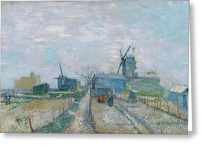 Montmartre - Mills And Vegetable Gardens, 1887 Greeting Card by Vincent Van Gogh
