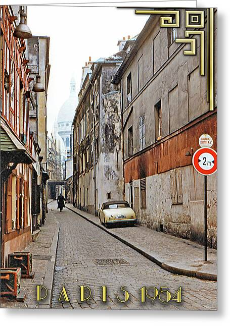 Montmartre - Titled Greeting Card