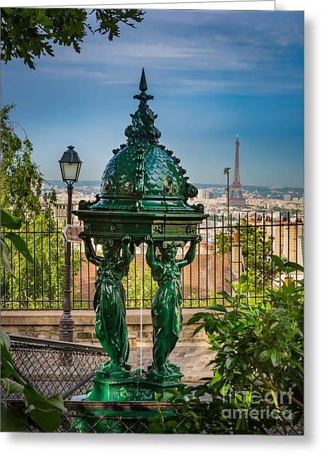 Montmartre Wallace Fountain Greeting Card