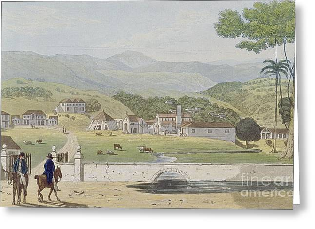 Montpelier Estates - St James Greeting Card by James Hakewill