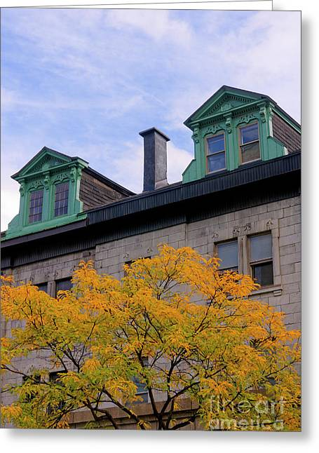 Montreal Architecture Greeting Card by John  Mitchell