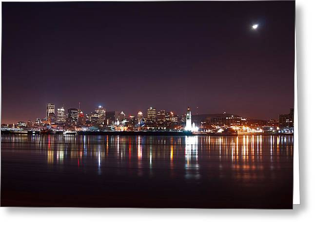 Montreal At Night Greeting Card by Martin Rochefort