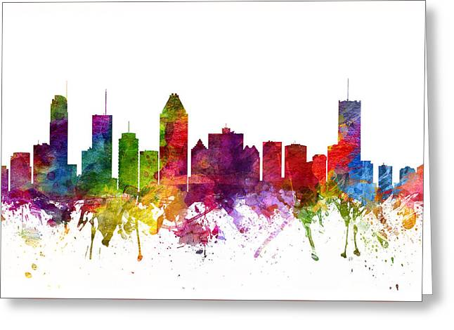 Montreal Canada Cityscape 06 Greeting Card by Aged Pixel