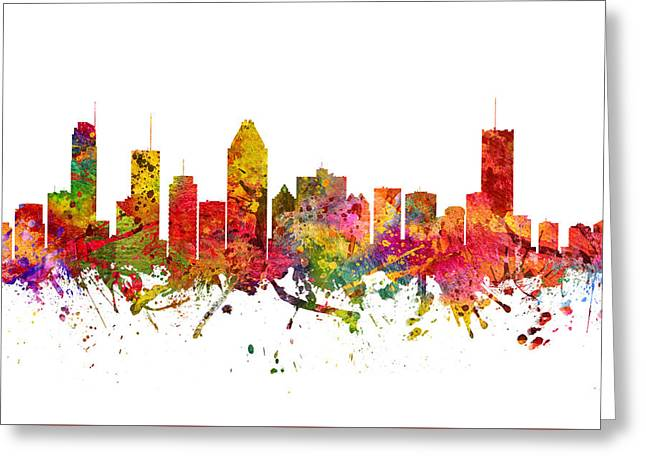 Montreal Cityscape 08 Greeting Card by Aged Pixel