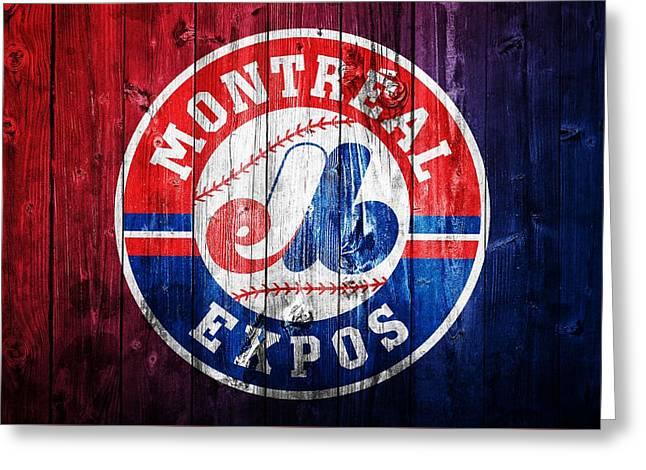 Montreal Expos Barn Door Greeting Card