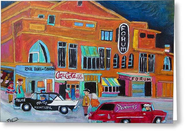 Montreal Forum Icon 1958 Greeting Card