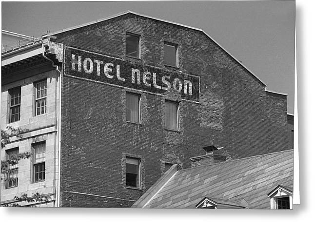 Montreal - Hotel Nelson Bw Greeting Card