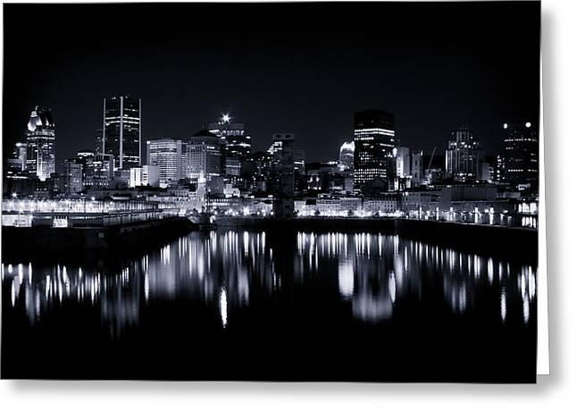 Montreal Night Lights 001 Greeting Card