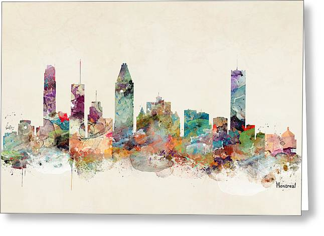 Montreal Quebec Canada Skyline Greeting Card