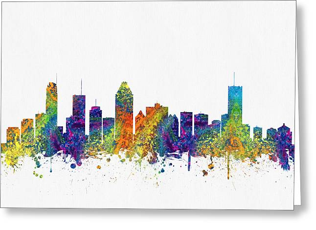 Montreal Quebec Skyline Color03 Greeting Card by Aged Pixel