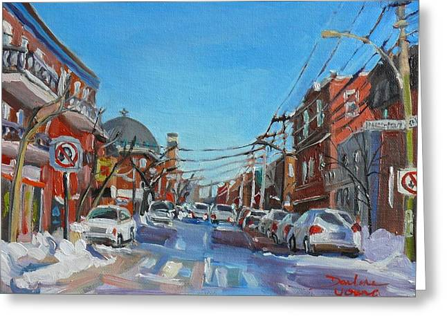 Montreal Scene Darlene Young Greeting Card by Darlene Young