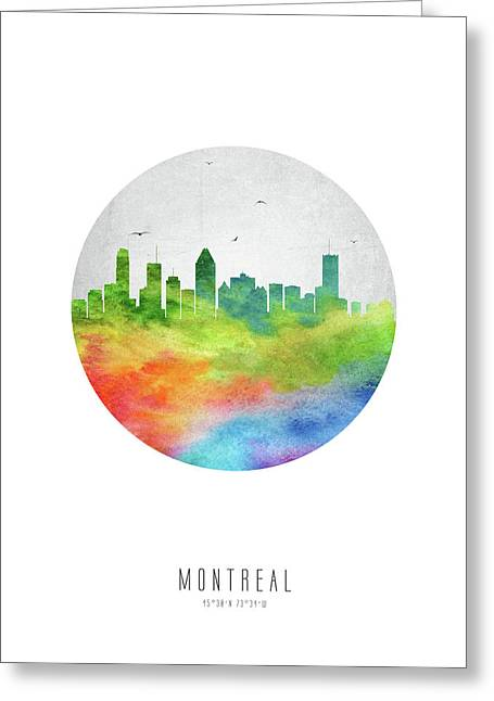 Montreal Skyline Caqcmo20 Greeting Card