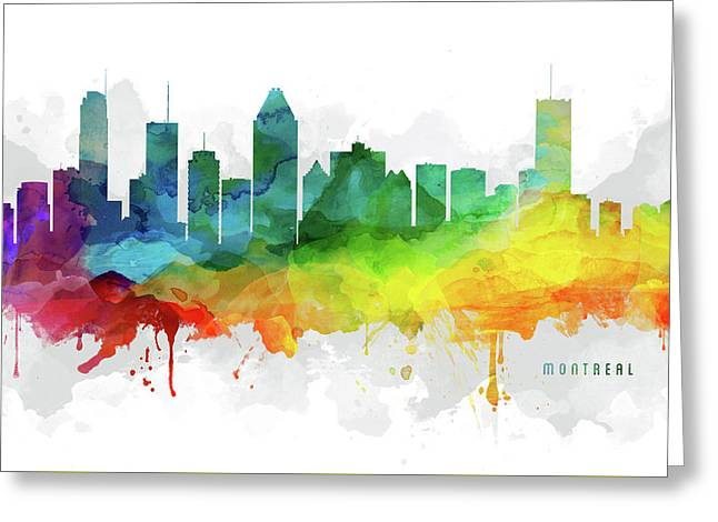 Montreal Skyline Mmr-caqcmo05 Greeting Card