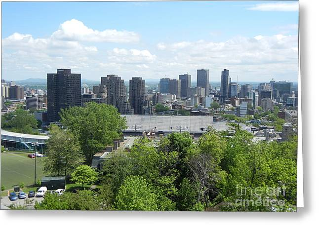 Montreal View From Mcgill Residences Greeting Card