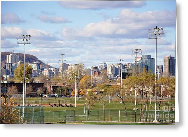 Montreal View From Verdun Greeting Card