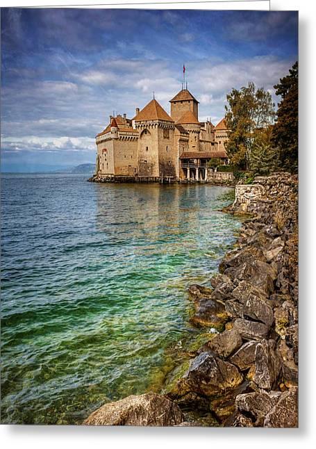 Montreux Switzerland Chateau De Chillon  Greeting Card