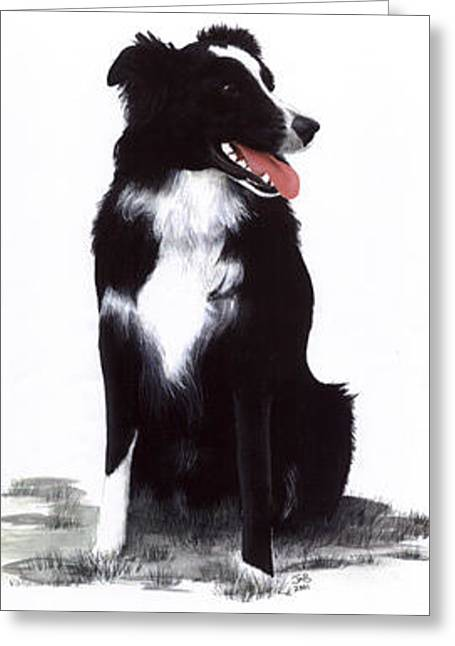 Monty Greeting Card by Janice M Booth