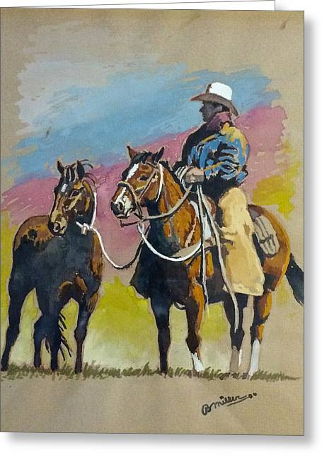 Monty Roberts Greeting Card