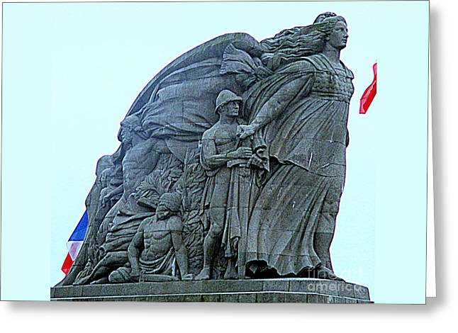 Monument Aux Morts 1 Greeting Card by Randall Weidner