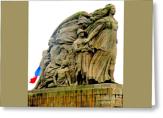 Monument Aux Morts 2 Greeting Card by Randall Weidner
