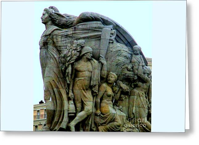 Monument Aux Morts 6 Greeting Card by Randall Weidner