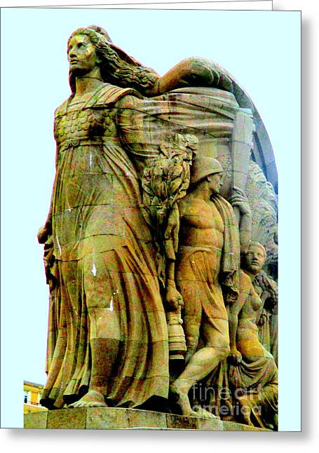 Monument Aux Morts 7 Greeting Card by Randall Weidner