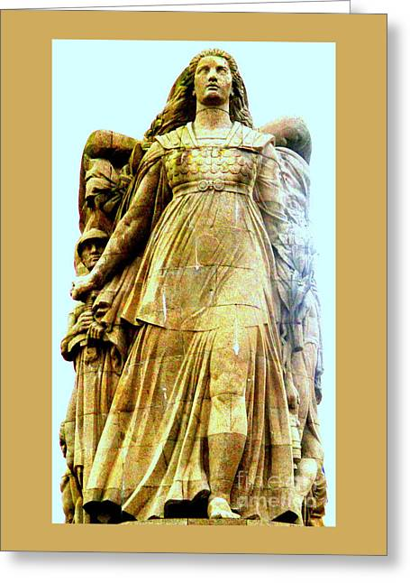 Monument Aux Morts 8 Greeting Card by Randall Weidner