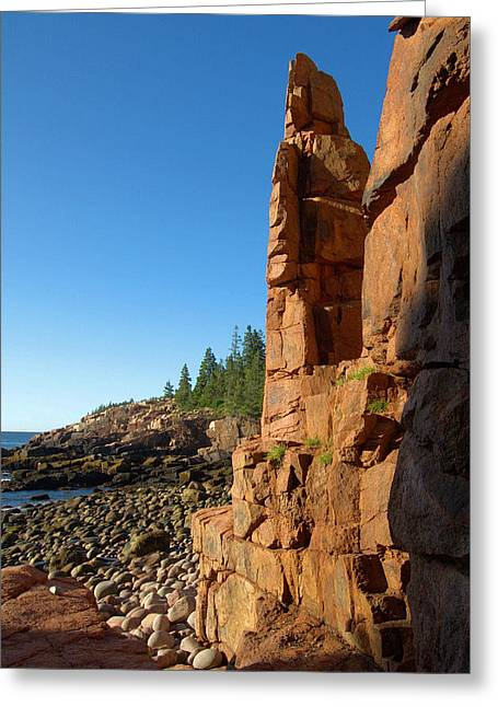 Monument Cove - Acadia Greeting Card by Stephen Vecchiotti
