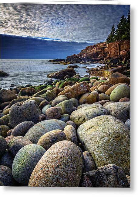 Monument Cove Greeting Card by Rick Berk