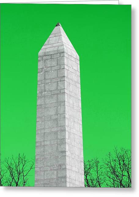 Monument Green Greeting Card by Tina B Hamilton