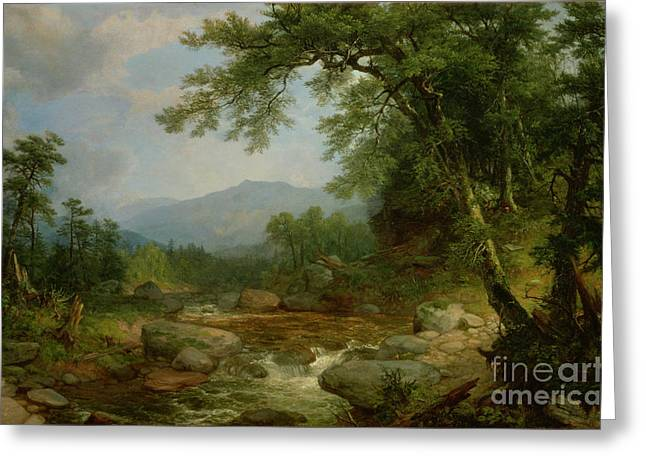 Rural Schools Greeting Cards - Monument Mountain - Berkshires Greeting Card by Asher Brown Durand