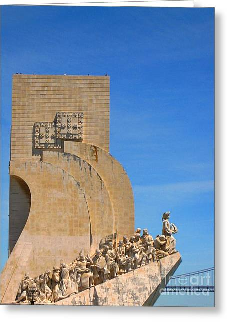 Monument Of The Discoveries 1 Greeting Card by Marta Robin Gaughen