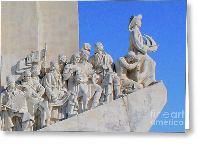 Monument Of The Discoveries 2 Greeting Card by Marta Robin Gaughen