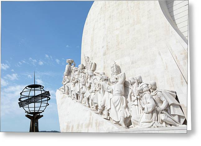 Greeting Card featuring the photograph Monument Of The Discoveries by Rebecca Cozart