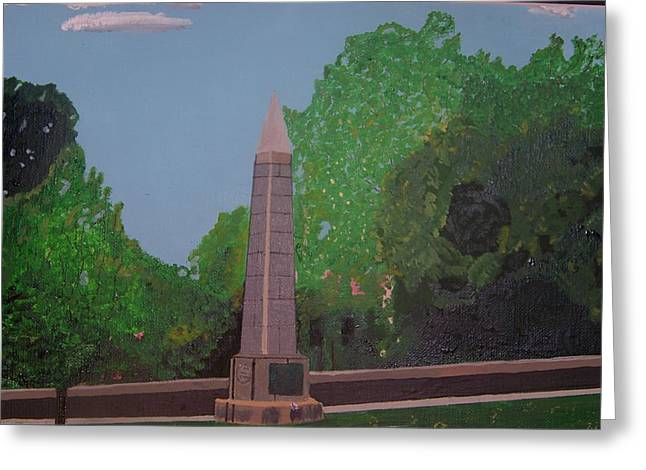 Concord Ma. Greeting Cards - Monument of the Revolutionary War of 1776 Greeting Card by William Demboski