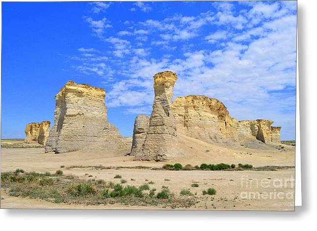 Monument Rocks In Kansas 2 Greeting Card
