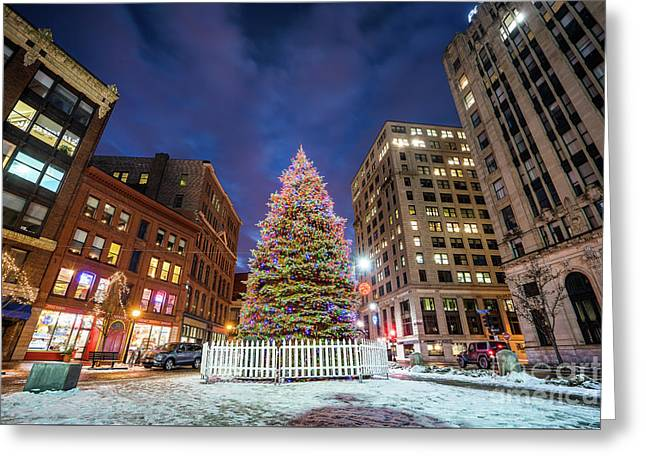 Monument Square Tree Greeting Card