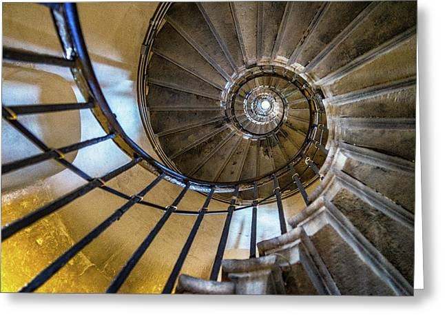 Monument Stairs Greeting Card by Jae Mishra